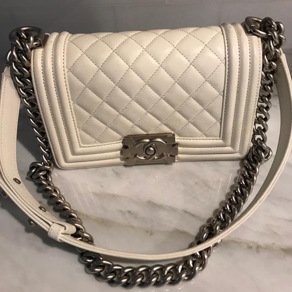 CHANEL Handbags - Chanel Boy bag size small